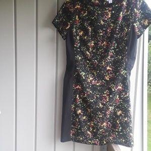 Xhilaration black and floral mini dress